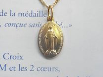 Paris Medaille Miraculeuse Coin Chain Necklaces & Pendants