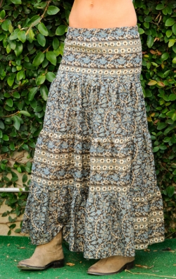 Flower Patterns Casual Style Skirts
