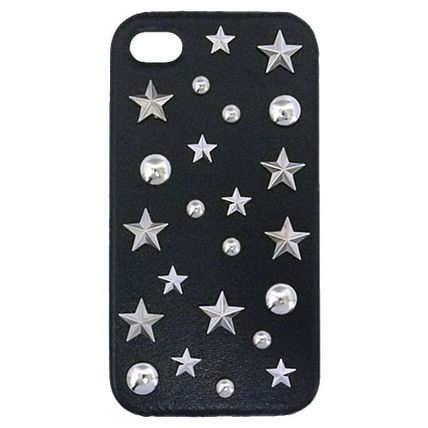 Star Dots Unisex Studded Leather Handmade Smart Phone Cases