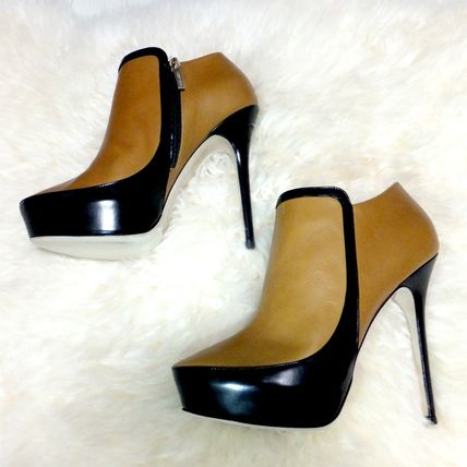 Jimmy Choo Casual Style Plain Leather Pin Heels Ankle & Booties Boots
