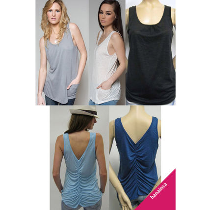 Blended Fabrics Plain Tanks & Camisoles