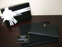 CHANEL MATELASSE Plain Leather Long Wallets