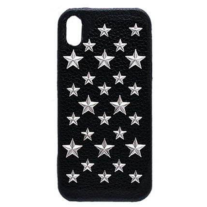 Star Unisex Studded Leather Smart Phone Cases