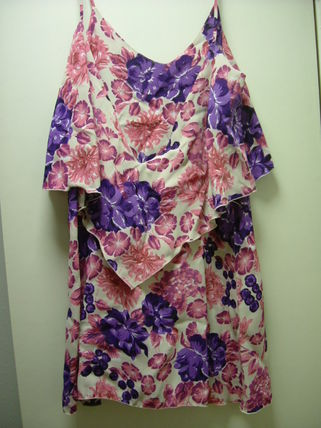 Flower Patterns Casual Style A-line Dresses