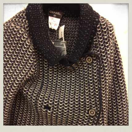CHANEL Wool Cashmere Blended Fabrics Medium Party Style