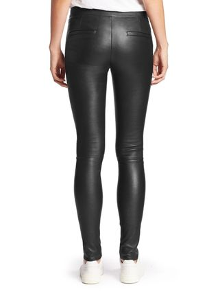 Street Style Plain Leather Long Leather & Faux Leather Pants