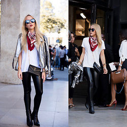HELMUT LANG Street Style Plain Leather Long Leather & Faux Leather Pants