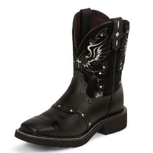 Cowboy Boots Square Toe Casual Style Leather Mid Heel Boots