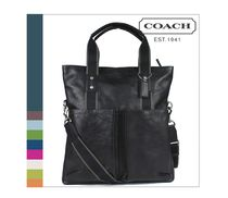 Coach HERITAGE STRIPE A4 2WAY Plain Leather Totes
