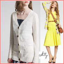 Milly Stripes Casual Style Linen Shirts & Blouses