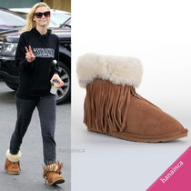 Koolaburra Round Toe Sheepskin Plain Ankle & Booties Boots