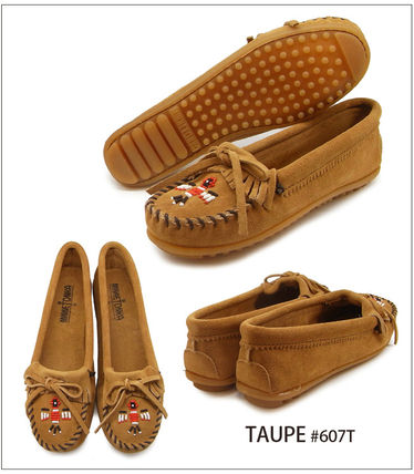 Moccasin Rubber Sole Suede Plain Handmade