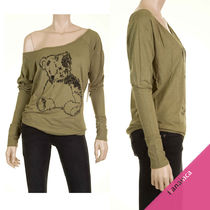 Brokedown Crew Neck Dolman Sleeves Other Animal Patterns Cotton