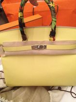 HERMES Birkin Souffle (Yellow)/SHW Epsom 35 Medium Bag