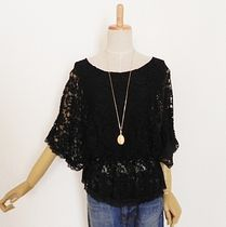 Dolman Sleeves Lace Shirts & Blouses