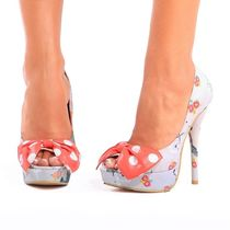 IRON FIST Dots Open Toe Platform Platform Pumps & Mules