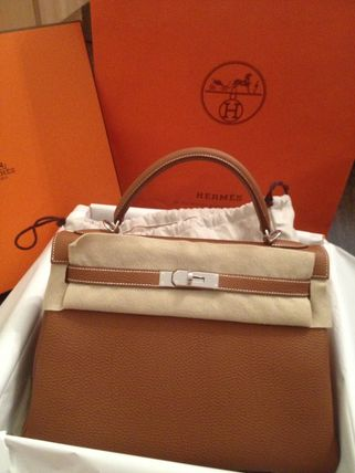 HERMES Kelly A4 2WAY 3WAY Plain Leather Handmade Party Style Office Style