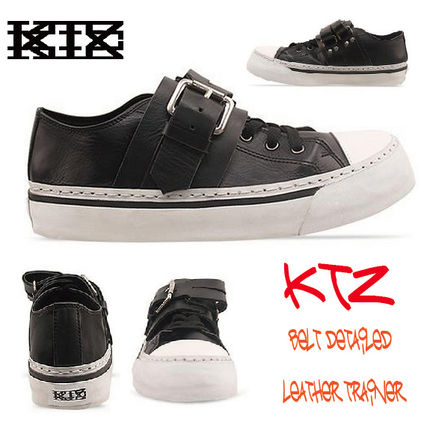 Express shipping KTZ-BELT DETAILED LEATHER TRAINER
