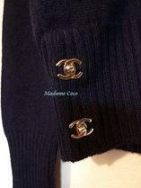 CHANEL Crew Neck Cashmere Long Sleeves Medium Cashmere