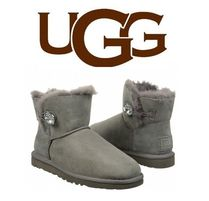 UGG Australia MINI BAILEY BUTTON Casual Style Sheepskin Suede Boots Boots
