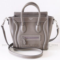 CELINE Luggage Calfskin Shoulder Bags