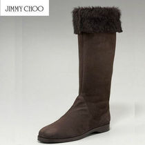 Jimmy Choo Fur Over-the-Knee Boots