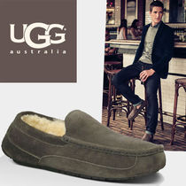 UGG Australia ASCOT Moccasin Loafers Suede Fur Street Style Loafers & Slip-ons