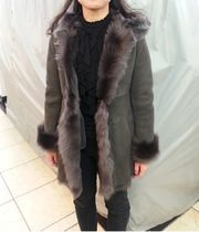 Fur Medium Fur Leather Jackets Elegant Style Coats