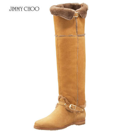 Jimmy Choo Suede Plain Over-the-Knee Boots