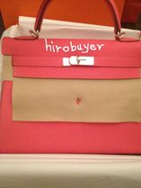 HERMES Kelly Rose Lipstick/SHW Togo Leather 32 Bag