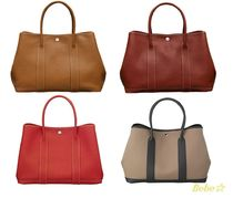 HERMES Garden Party Gold/Country Rouge/gonda Rouge/buffle Garden Party 36 tote