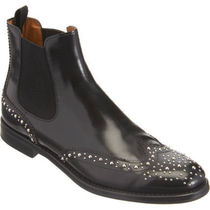 Church's Round Toe Rubber Sole Studded Plain Leather