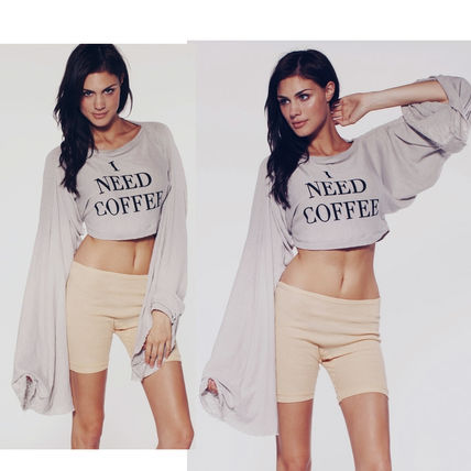 Crew Neck Short Sweat Long Sleeves Cropped
