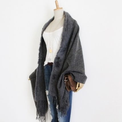 Plain Party Style Lightweight Scarves & Shawls