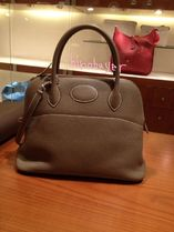 HERMES Bolide Casual Style 2WAY 3WAY Plain Leather Party Style