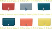 HERMES Dogon Dogon Monotone Or Two-Toned Smooth Leather Long Wallet
