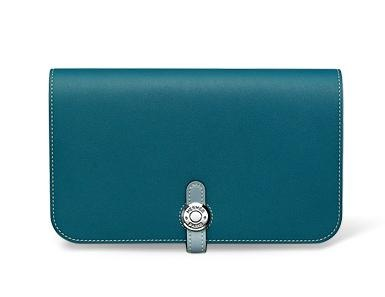 HERMES Long Wallets Dogon Monotone Or Two-Toned Smooth Leather Long Wallet 3