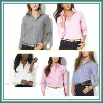 Ralph Lauren Stripes Long Sleeves Plain Cotton Shirts & Blouses