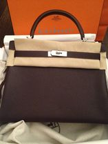 HERMES Kelly Casual Style 2WAY 3WAY Plain Leather Handmade Party Style