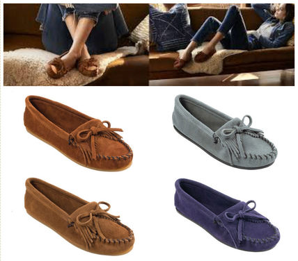 Moccasin Suede Flats