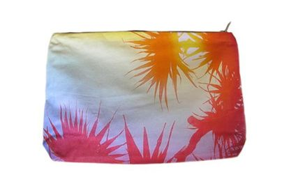 Tropical Patterns Canvas Clutches