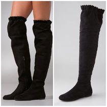 Marc by Marc Jacobs Plain Toe Suede Plain Over-the-Knee Boots