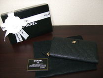 CHANEL TIMELESS CLASSICS Plain Leather Long Wallet  Long Wallets