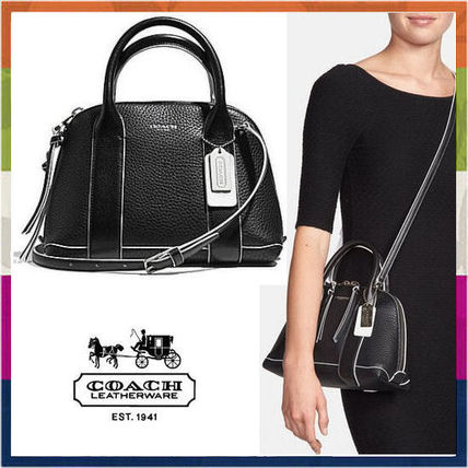 Black/White Mini Edgepaint Preston Satchel Bag