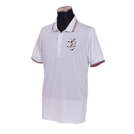 Pullovers Street Style Plain Short Sleeves Polos