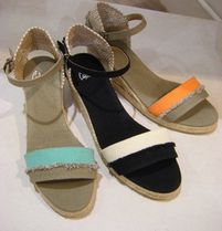 Castaner Open Toe Bi-color Platform & Wedge Sandals
