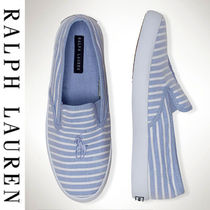 Ralph Lauren Stripes Slip-On Sneakers