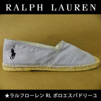 Ralph Lauren Stripes Platform Lace-Up Shoes