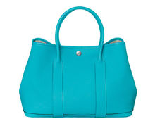 HERMES Garden Party Garden Party 36 in turquoise blue tote bag