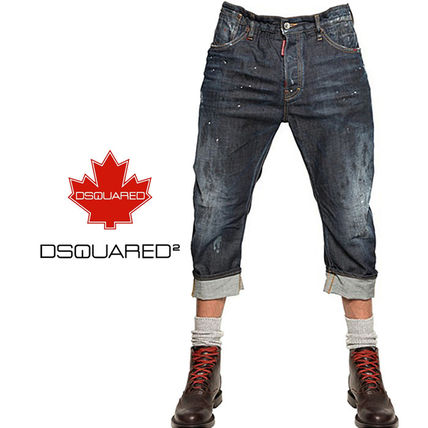 DSQUARED2 & paint roll-up jeans